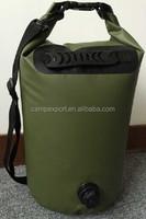 waterproof dry bag ocean pack swim sack with shoulder strap, valve hand rubber handle
