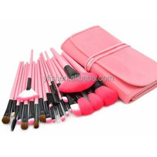 24pcs Professional Comestic Makeup Brush Set with Bag (Pink)
