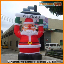 OEM giant inflatable father christmas with blower