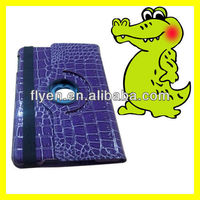 """Tablet accessories 360 Rotating for iPad mini Leather Case 7.9"""" inch Tab Smart Cover Crocodile Skin Pattern"""