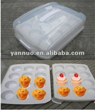 Plastic double deck cake containers, cup cake carrier