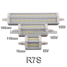 Bombillas lamparas led R7s 118mm 21 SMD LED 5730 5630 Epistar 10W luz natural