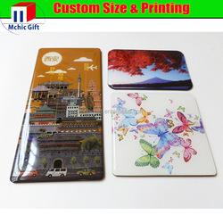 custom epoxy resin glass magnet for fridge