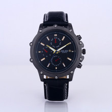 2015brand new Luxury round shape stainless steel quartz wristwatches for male fashion popular men's watch gift