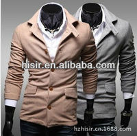 Simple solid color tunic trade Blazers Men's Jacket JK22 wild