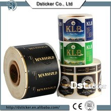 the printing photo new wine bottle roll paper sticker