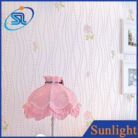Warm pastoral flowers wallpaper non-woven wallpaper roll wall papers