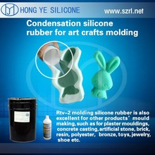 two components liquid rtv silicone mold making rubber for polyresin crafts