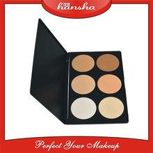 Waterproof Mineral Powder Face Makeup Foundation 6 colors/palette