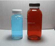 Juice Use and Screw Cap Sealing Type glass bottles french fresh square glass bottle