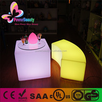 2015 Hot Sale Color Changing Plastic Night Club Lighting Furniture Bar Cube Table