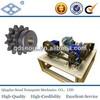 ASA140 ANSI standard 28A-2 DIN pitch 44.45 C45 22T double row sprocket