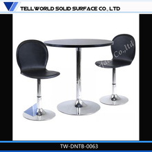 Modern design marble top metal base table and chair for coffee shop,Tellworld/OEM
