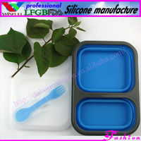Silicone rubber lunch box&food plastic container&mens lunch bag