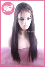 High quality unique yaki straight full lace wig in stock