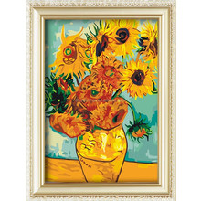 Top selling products 2015 popular flower pattern diy oil painting by numbers 40*50cm