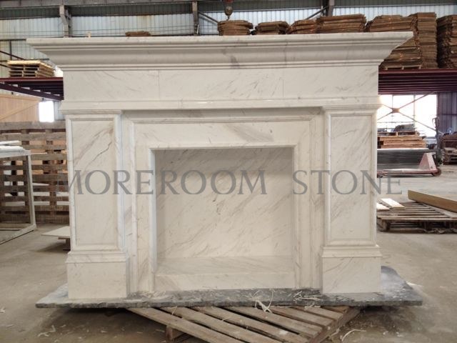 Moreroom Stone White Marble Finished Marble Product Natural Stone Marble Fireplace Volakas White Fireplace.jpg