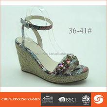2015 romantic sex wedge heel ladies shoes color diamond