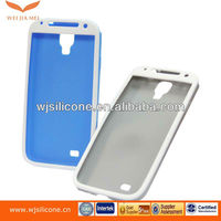 Newest two-tone silicone covers for samsung galaxy S4