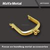Wholesale gold stainless steel kiss lock handbag frame