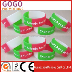 Silicon Bracelet, Made of 100% Silicone, Customized Designs are Welcome,customized silicon bracelet in high quality and low cost