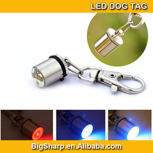 UFO LED Dog tag Pendant Collar Puppy Led Safety ID tag Night Light Pet Dog Collar 6 Colors drop shipping & free shipping DP-003