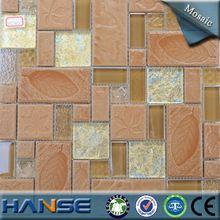 HT250 guangdong cheap brown yellow mosaic ceramic floor tile