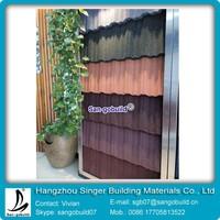 Alu-Zinc Steel Material Stone Coated Metal Roof Tile Type Spanish Roof Tile