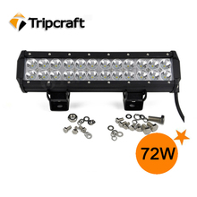 Guangzhou factory direct 72w c r e e led light bar with best components