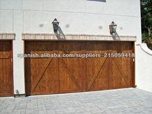 el doble de madera puertas de entrada