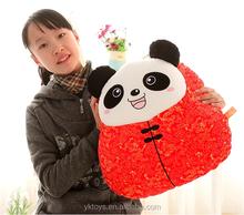 Top quality lovely stuffed valentine gift plush toy panda
