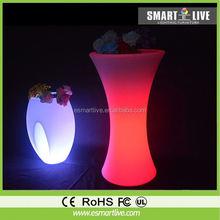 LED flower pot/LED flower vase light/LED glow garden furniture and color change