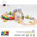 35 pcs animal cescue de ferrocarril de madera juguetes trian pista conjunto