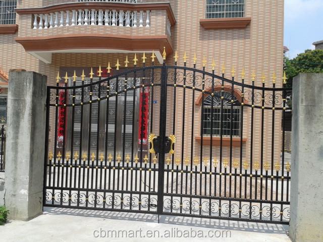 Casa de la puerta puerta de hierro para el hogar vila parque puerta del jard n dise os 0355 - Puertas de hierro para jardin ...