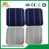 TP-156M Hottest sell 6''x6'' mono-crystalline solar cell supplier high efficiency solar cell sheet