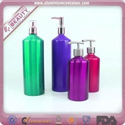 aluminum bottle aluminum ribbed,shampoo crativity bottle