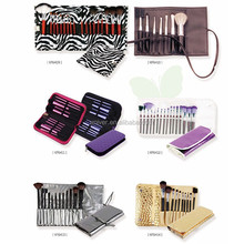 New Hot Sell Professional Salon 7PCS Nylon Hair Cosmetic Makeup Brush Sets with Pouch KF6409-KF6414