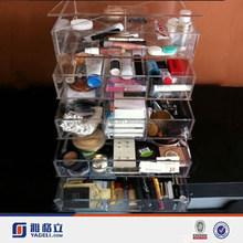 alibaba china 5 drawers acrylic makeup organizer with mirror acrylic cosmetic storage for mac makeup