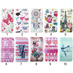 Magnetic Cute Cartoon Flip Wallet PU Leather Stand Case Cover For Various Phones