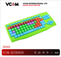 2015 Hot Sale Colorful Kids Computer Keyboard for Childen Education