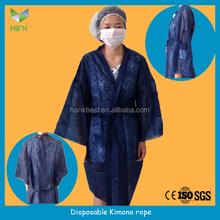 Disposable Nonwoven Kimono,Kimono dress,nonwoven clothes Bath Robes/Kimono Robe for Spa