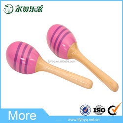 Children like to play with high quality wood maracas