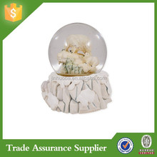 Polar Bear With Cubs Glass Musical Snow Globe Plays Song Can not Take My Eyes Off Of You