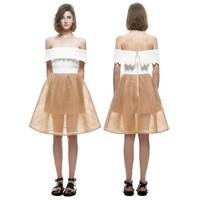 Beautiful chiffon simple european newest woman lady fashion dresses