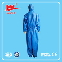 Disposable protective industrical fire resistant fabric safety coverall for clean room