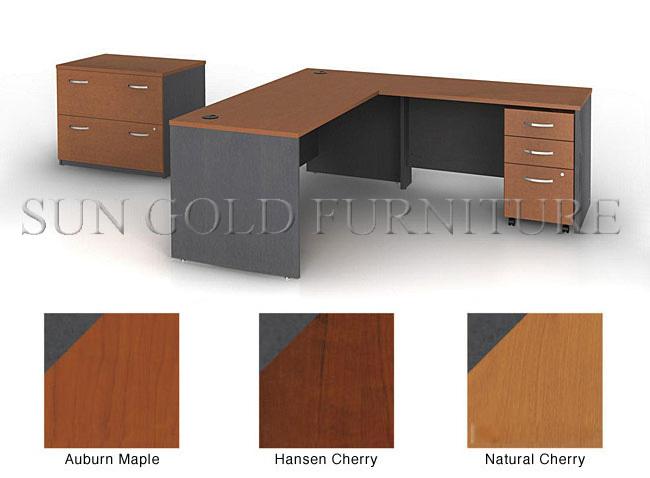 diseo simple de madera muebles de oficina oficina de la esquina escritorio sz