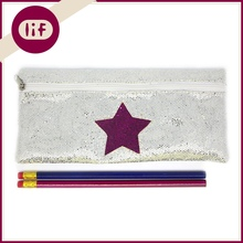 Chic Silver Glitter Pencil bag, With Star Glitter Pencil Bag, Shinning Pencil Bag