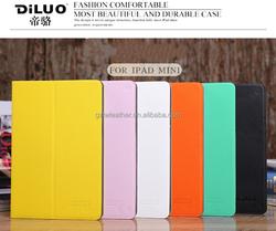 Flip PU leather case for iPad mini 2/3, for iPad mini stand leather case