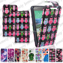 Butterful/Owl Printing PU Leather Wallet Type Magnet Design Flip Case Cover For HTC One Mini 2