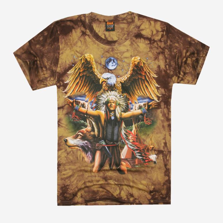 Mens Indian Shirts Indian People Eagle 3d T-shirt